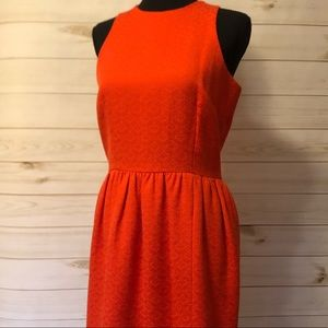 Beautiful textured fitted orange dress